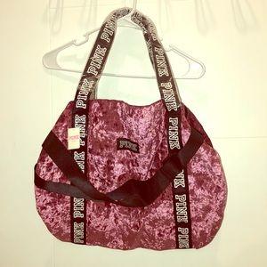 Victoria's Secret pink Velvet Duffle bag 💜 New